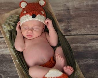 Infant Fox Photography Prop Set