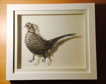 Handmade Papercut Pheasant