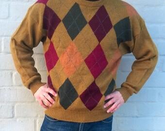 Vintage wool sweater, vintage pullover, mens sweater, wool jumper, winter sweater, women sweater, highlanders sweater, men M / women L (TW3)
