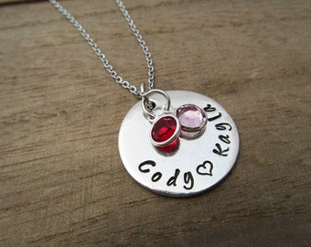 Personalized Mom Necklace - Mothers Day Gift From Children