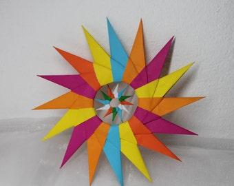 Origami star wind chime / Ornament / Home Decor / Garden Decor / Paper Star Ornament