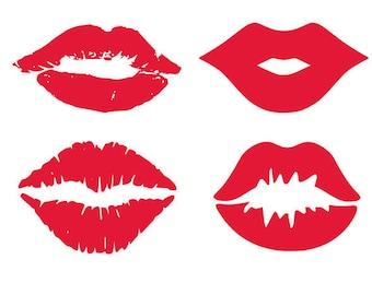 Lips svg, kiss svg, svg lips, svg kisses, svg, dxf, cricut, silhouette cutting file, download