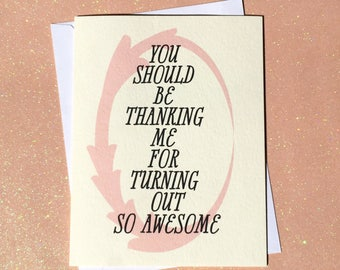 Mothers Day Card Funny, Mothers Day Card, Mothers Day Gift, Funny Mothers Day Card, Funny Mothers Day, Mom Card, Turning Out Awesome, Mom