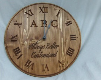 Customized Personalized clock logo clock business clock