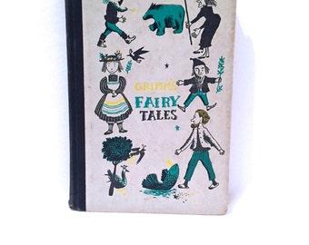 1950'S RARE Classic Antique Grimm's Fairy Tales Book