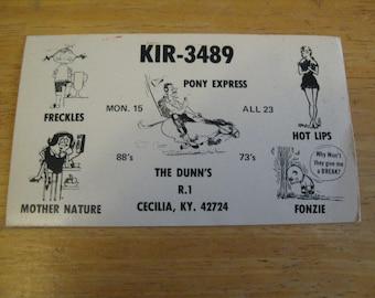 vintage  kir 3489 post postcards the dunn s r.1 cecila ky