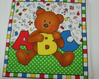 ABC Animals Soft Fabric Book/ Soft Book/ Baby Book/ Cloth Book/ Colorful Baby Book/ Baby ABC Book/ Fabric Book/ Baby Boy/ Baby Girl