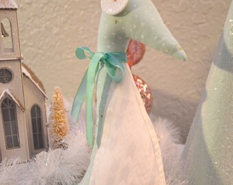 Stuffed Mint Green and White Penguin (Medium)