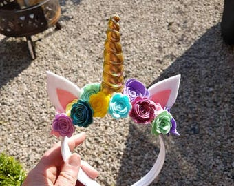 Unicorn Hairband - Various Colours Available!