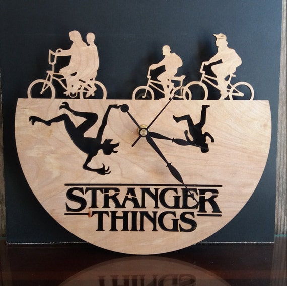 Stranger Things Clock Wood Clock Gifts For Her Gifts For