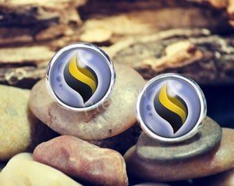 Beedrillite Mega Evolution Stone Pokemon earrings, Pokemon Evolution studs, jewelry, Anime earrings