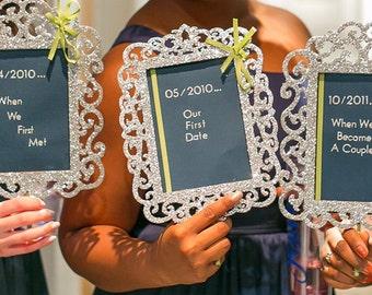 """Alternative Bridesmaids """"Timeline"""" Bouquets"""