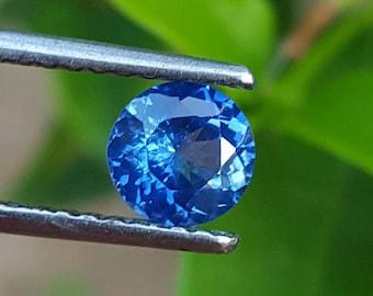 Round blue sapphire engagement ring .Sapphire rose gold engagement ring Round.blue sapphire for rose gold engagement ring halo SumuduniGems
