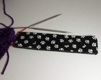 Dog Paw Print Circular Needle Holder/ DPN Holder for knitting or crochet