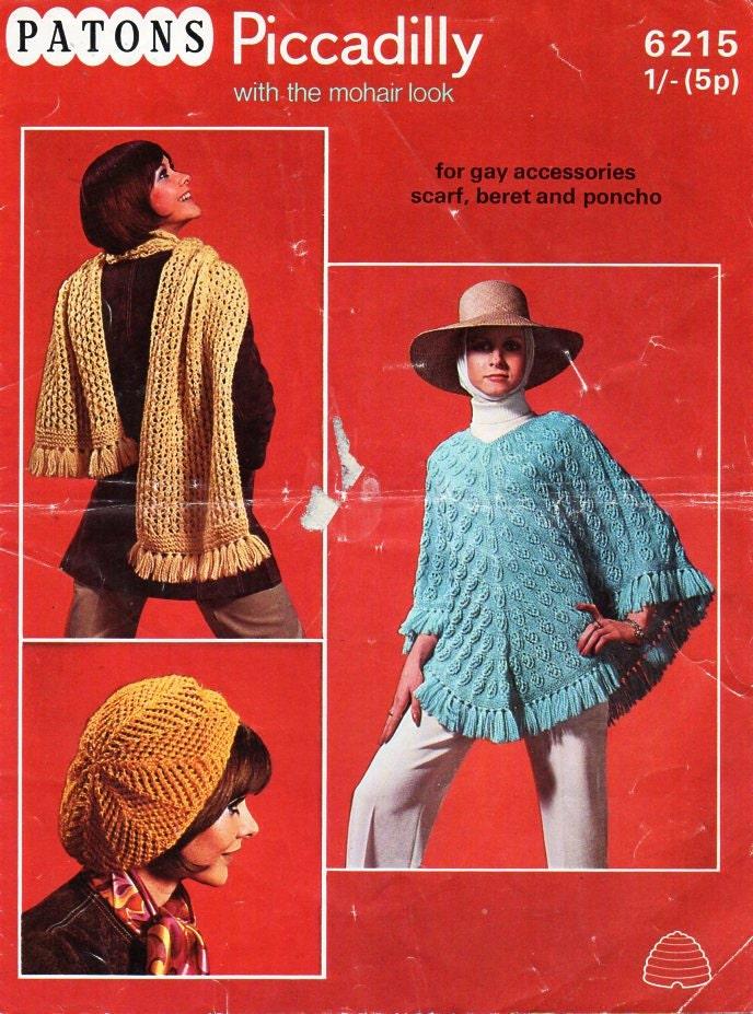 Knitting Pattern For Dk Poncho : womens poncho knitting pattern pdf DK ladies by ...