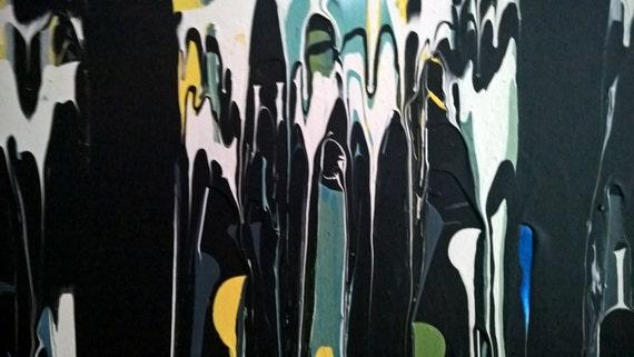ROOFRATS - Handmade Acrylic Painting - Abstract