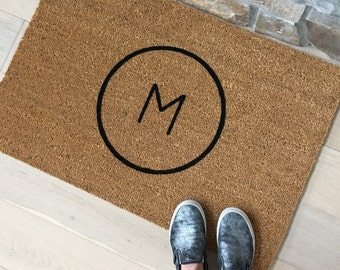 Housewarming Gift - Personalized Door Mat - Front Door Mat - Custom Doormat - Family Name Letter - Personalized Gift