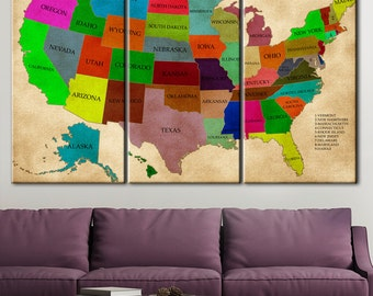 Grunge Usa Map Usa Map Usa Canvas Art Map Of Usa Usa