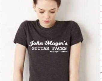Custom John Mayer Guitar Faces Shirt
