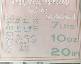 Customized Birth announcements on canvas