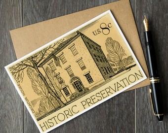 Decatur House art prints, history teacher cards, teacher retirement gift ideas, historian retirement cards, US history greeting cards
