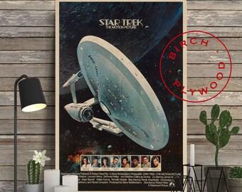 STAR TREK - Poster on Wood, William Shatner, Leonard Nimoy, DeForest Kelley, Gene Roddenberry, Unique Gift, Birthday Gift, Print on Wood