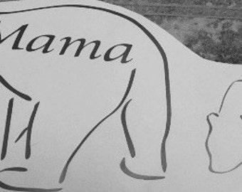 Mama and baby bear vinyl decal