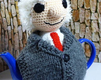 Michael D Higgins teapot cosy/Michael Tea Higgins cosy/ Novelty teapot cosy/Teapot cozy/Looks like M.D Higgins Teapot cosy