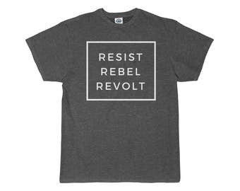 Resist Rebel Revolt | Men's T-Shirt | Gray