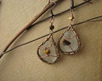 Broken Glass Earrings