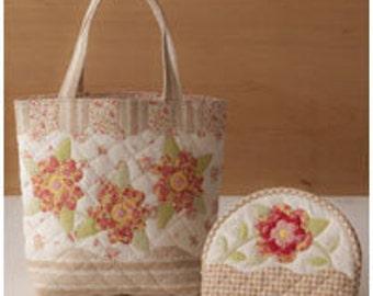 Sale - Lecien - One Step Quilt - Handbag & Pouch Fabric Panel - Tan - LEC31454-10