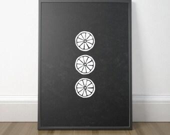 Chalkboard Kitchen Art, Rustic Kitchen Wall Art, Lemon Print Art, Printable Kitchen Sign, Kitchen Decor, Instant Download, Digital Print