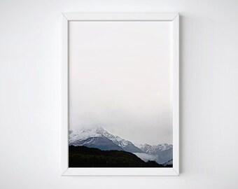 Landscape Print, Mountain Print, Mountain Poster, Mountain Wall Art, Minimalist Printable, Minimalist Art, Modern Photography, Nature Print