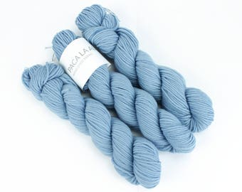Blue Hand Dyed Yarn - Aran 50gr