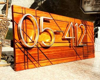 Modern address sign 6 digits
