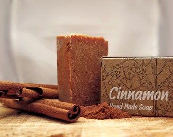 Cinnamon soap ,soap bar,all natural soap,unscented handmade Soap,cold process soap,christmas gifts,organic soap,cinnamon soap,gift for all