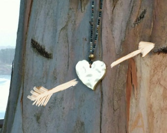India agate Heart Necklace