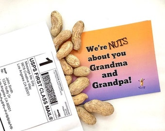 We're NUTS about you G & G! Gag Gift / Gift for Her / Gift for Him / Funny Greeting Card / Prank Gift / Grandparents Card / Funny Cards