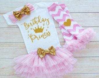 Baby Girl Birthday, Birthday Princess Shirt, Birthday Outfit Girl, Princess Birthday Bodysuit, 1st Birthday Outfit Girl, Cake Smash Outfit,
