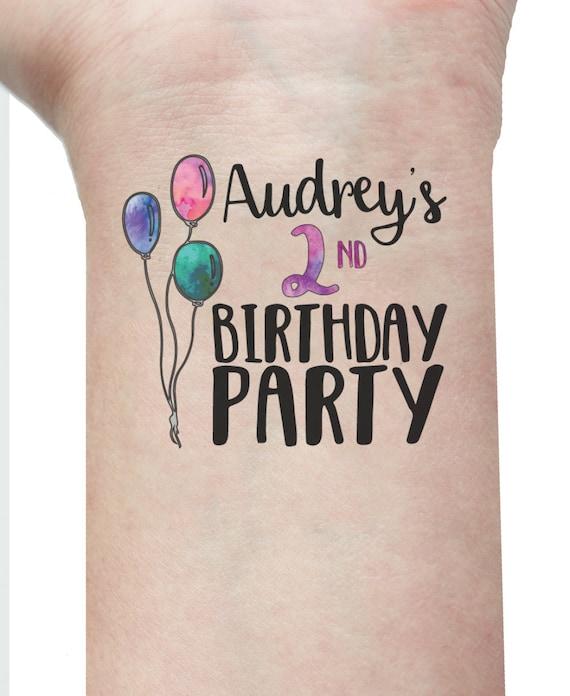 10 kids birthday tattoos birthday favors favours for Birthday date tattoos