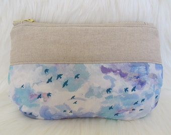 Liberty Linen pouch | Liberty London Silver Lining Tana Lawn | makeup pouch | sewing kit pouch | pencil case | utility pouch