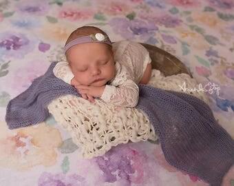 Newborn girls lace romper