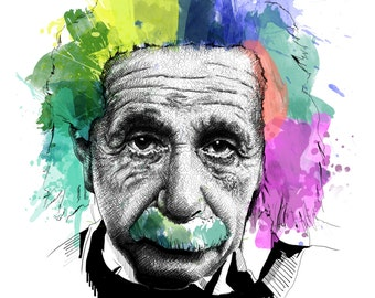 Einstein, Albert // Portrait Art Print
