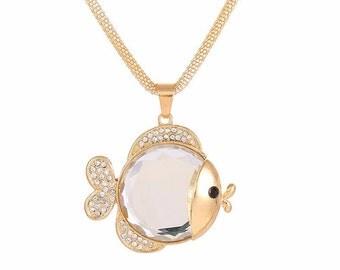 Kissing Fish Necklace, Pucker Lips Fish, Kiss Fish Necklace, Mothers Day Jewelry, Mothers Day Gift, Kissie Fish, Gift for Her, Fish Necklace