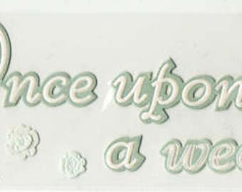 Once Upon A Wedding Disney Title Jolee's Boutique Scrapbook Stickers Embellishments Cardmaking Crafts
