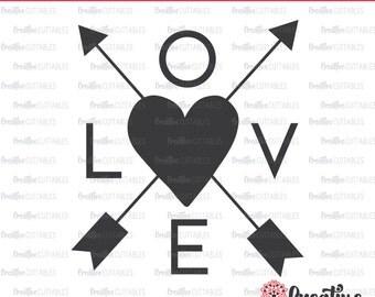 Love SVG Digital Cut File