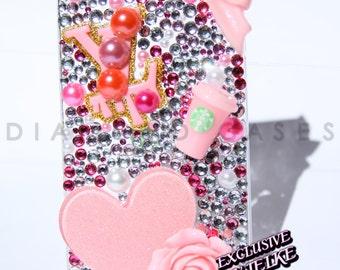 Diamond Custom Rhinestone Handmade Bling Bling Phone Case for iPhone 4 (s)