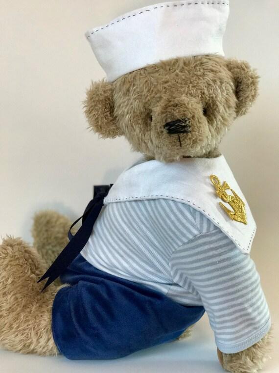 Handmade OOAK artist teddy bear Sam. German growler. Large size.