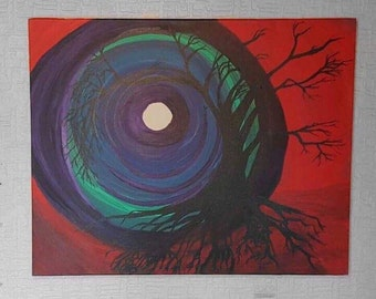 Canvas - Whirlwind Tree by Rachael Rose