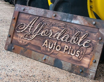 Unique carved sign for your shop